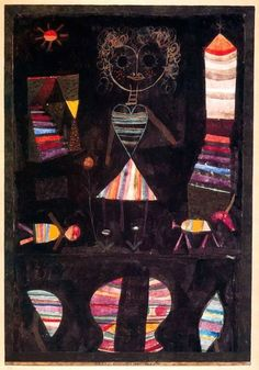 Paul Klee, Puppet theatre 1923.  Art Experience NYC  www.artexperiencenyc.com/social_login/?utm_source=pinterest_medium=pins_content=pinterest_pins_campaign=pinterest_initial
