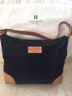c035aefda8de Black Kate Spade Nylon   Leather Shoulder Strap Handbag Purse