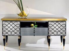 CP188 Sideboard Capri Collection by Rozzoni Mobili d'Arte design Statilio Ubiali