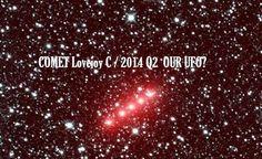 NASA: Imagens do Cometa Lovejoy C / 2014 Q2 Brilha em Vermelho - UFO ou Cometa?