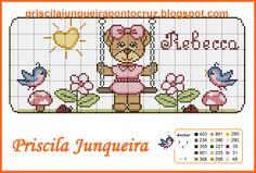 Pin em A bear Cross Stitching, Cross Stitch Embroidery, Embroidery Patterns, Cross Stitch Patterns, Cross Stitch Boards, Cross Stitch Baby, Animal Crackers, Mug Rugs, Diy And Crafts