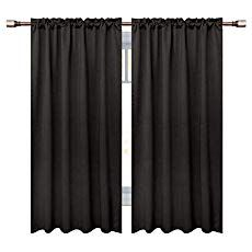 Downluxe Thermal Insulated Blackout Curtains 2 Panels Engergy Efficient Rod Pocket Room Dark Curtains Thermal Insulated Blackout Curtains Blackout Curtains