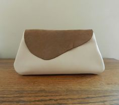 ivory leather clutch ivory clutch small beige purse leather purse handmade handbag casual bag everyday wear dressy ready to ship - pinned by pin4etsy.com