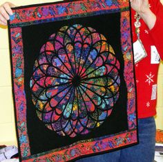 Stained Glass Quilt Patterns | This quilt was just way toooooo coool! The kids were pointing and ...