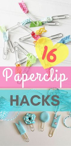 16 Paper Clip Life Hacks For Everyday Uses - life hacks - awesome life hacks - stationary hacks - home decor - back to school ideas