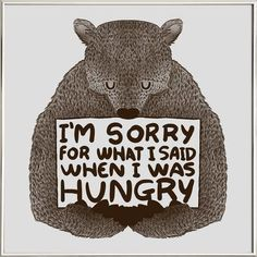 I'm Sorry For What I Said When I Was Hungry - Tobe Fonseca - Poster im Alurahmen