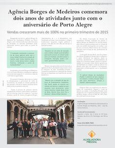 """Hoje a Agência Borges de Medeiros, de Porto Alegre, está de aniversário junto com a nossa cidade!  """"É motivador comemorar o aniversário da nossa agência junto com a nossa cidade! Estamos no coração da Capital, onde muitas histórias acontecem e onde damos início a muitas histórias, realizando o sonho de muitas famílias!"""" fala Kleber Sobrinho.  Confira na íntegra!"""