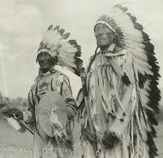 One Bull, White Bull. Both are nephews of Sitting Bull. July 28th 1934, Little Eagle, South Dakota.