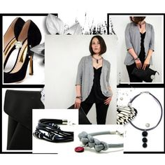 Elegance - Black & Gray #fashion #inspiration #trend #fall #winter #summer #spring #pantone #frühjahr #sommer #herbst #style #outfit #ootd #filizity
