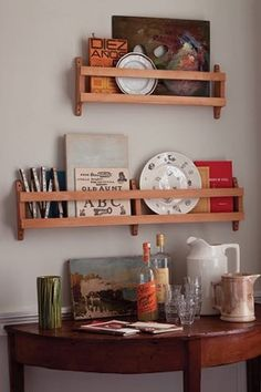 Beechwood Hymnal Plate Racks are handmade and look lovely in any size space.