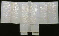 Chôken (Nô Costume), Late Meiji/early Taishô period, early 20th century    Silk and gold-leaf-over-lacquered-paper strips, complex gauze weave with supplementary brocading wefts.  The Art Institute of Chicago
