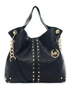 Michael Kors Uptown Astor Patent Black Leather Clothing Impulse Bolsas