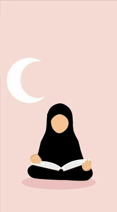 Ride the Qur'an for Ramadan🌙 Muslim Girls, Muslim Couples, Muslim Women, Niqab, Girl Cartoon, Cartoon Art, Photo Islam, Hijab Drawing, Islamic Cartoon