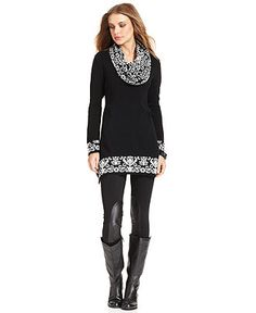 Style Sweater, Long-Sleeve Snood-Neck - Womens Sale & Clearance - Macy's