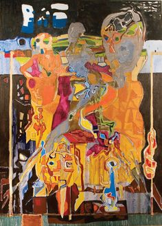 sun-and-moon- Harold Klunder Abstract Expressionism, Abstract Art, Canadian Artists, Fractals, Contemporary Art, Moon, Artwork, Painting, Inspiration