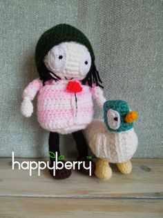Happy Berry Crochet: How To - Sarah and Duck Crochet Pattern