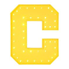 Applique C jaune LED Kare Design