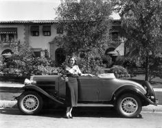 Adrienne Ames ~ – with her two door Roadster in front of her Hollywood mansion. Vintage Cars, Antique Cars, Adrienne Ames, Little Shop Of Horrors, Classic Cars, Hollywood, Stars, Mansion, Image