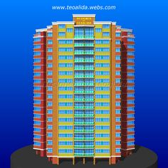 Triangle Tower apartment block design in AutoCAD Tower Apartment, Apartment Plans, Plan Design, Block Design, Cool Apartments, Architecture Design, House Plans, Triangle, Floor Plans