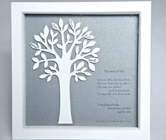 Personalised, 3d Wooden Family Tree In A Box Frame, Gift For Wedding…