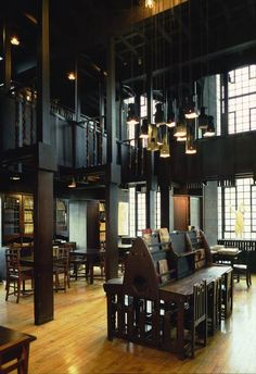 The Mackintosh Library at the GSA. Most likely destroyed. http://edelhaus.hubpages.com/hub/charles-rennie-mackintosh