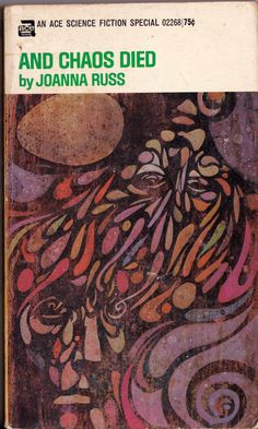 leo and diane dillon, cover art for: and chaos died, ny ace, 1970