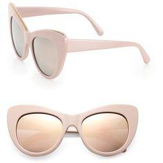 aa9a46e7c0b4c Stella McCartney Falabella Chain 53MM Oversized Cat s-Eye Sunglasses ( 345)  ❤ liked on