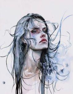 Женский портрет акварелью » Prostoykarandash.ru - Уроки рисования карандашом, уроки живописи маслом и акварелью