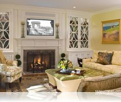 Hanging Your TV over the Fireplace: Yea or Nay | Moldings, TVs and ...