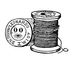 **FREE ViNTaGE DiGiTaL STaMPS**: Free Vintage Digital Stamps - Sewing Notions, etc