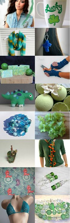 Blue and green by Marion L on Etsy--Pinned with TreasuryPin.com