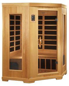 QCA Spas QCA Better Life 3 Person Carbon Infrared Corner Sauna