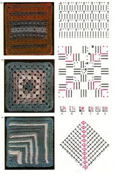 Patchwork Crochet Blanket - Free Pattern diagram 6