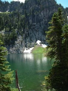 Bloomington Lake in the Bear River Range, ID.  © Susanne Janecke