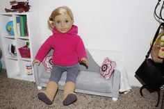 Fabric Cake: DIY Doll Couch, Sofa, or Loveseat for 18 inch dolls!