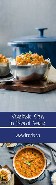 Vegetable Lentil Stew in Peanut Sauce | One Pot Wonder | lentils.ca // gluten-free, vegetarian, vegan