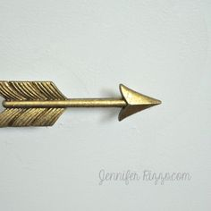 Dresser update with gold arrow drawer pulls - Jennifer Rizzo