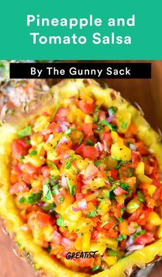 Pineapple and Tomato Salsa #healthy #dip #recipes http://greatist ...