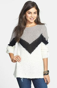 BP. Textured Chevron Knit Pullover (Juniors) | Nordstrom http://www.wattpad.com/27070046-the-other-summer-girl-chapter-1
