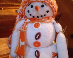 Handmade snowmen pillows and one of a kind by NanasThreadsOfLove