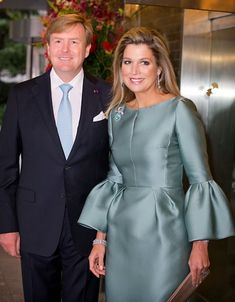 King Willem-Alexander and Queen Maxima of the Netherlands hosted a reception and concert on their final evening in Japan. Oct. 31, 2014.