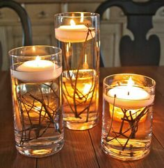 DIY Wedding Table Decoration Ideas tall candle pillars with flowers inside and short mason jars with simple flowers. These will cluster in center of table on top of burlap- might be good for an outside summer/fall wedding. Diy Wedding, Rustic Wedding, Dream Wedding, Trendy Wedding, Decor Wedding, Wedding Reception, Wedding Flowers, Wedding Simple, Wedding Backyard