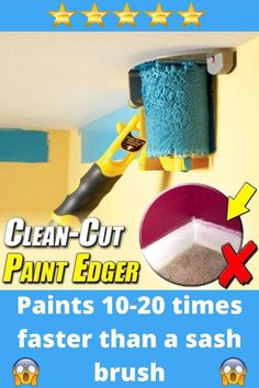 Tape Painting, Painting Tools, Painting Edges, Painting Hacks, Painting Walls Tips, Edge Painting Tool, Painting Plaster Walls, Ceiling Painting, Diy Painting