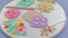 Easter Basket Gift / Felt Easter Cookie Set / Felt Board Set /