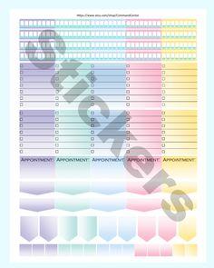 New to CommandCenter on Etsy: Erin Condren Planner Stickers Printable Summer Set Planner Stickers Printable Water Stickers To Do List Erin (1.99 USD)
