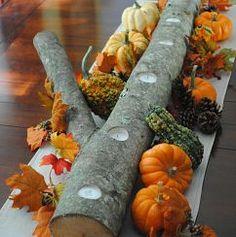 Autumn Log Centerpiece.