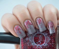 ~True Love's Divine~ Red Holo Glitter topper!  Swatched by Polished Lifting: http://polishedlifting.blogspot.com/2014/06/spell-polish-review.html
