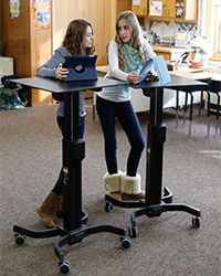 Loughborough study reveals standing desks, like the Ergotron LearnFit, in schools could help tackle sedentary behaviour | Loughborough University