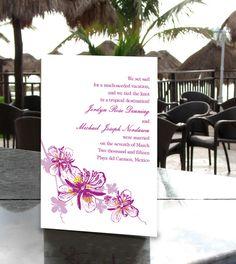 Invitation for reception after destination wedding...Proper Wedding Announcement Wording and Etiquette