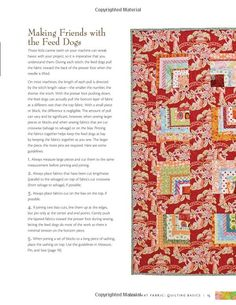 Maverick Quilts: Using Large-Scale Prints: hints on best use of feed dogs & making long seams Novelty Fabric, Fabric Panels, Scale, Quilting, Stitch, Prints, Tips, Weighing Scale, Full Stop